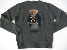POLO RALPH LAUREN Men's Intarsia-Knit Polo Bear Wool Sweater 2014 EDITION!!! M