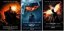 The Dark Knight Trilogy Movie Poster Bundle (Set of 3) Batman - 11x17 13x19