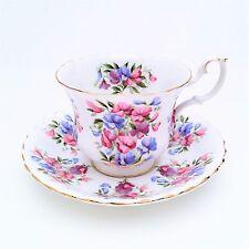 Royal Albert Bone China Tea Cup & Saucer Springtime Series Sweet Pea Montrose