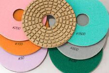 "Diamond Polishing Pads 8"" Set for CONCRETE, TERRAZZO and MARBLE"