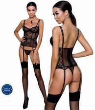 Corsage Strapshemd aus Spitze und String Gogo Outfit Paty Dessous Made in EU