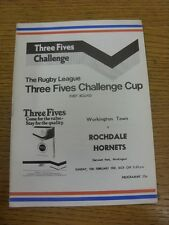 15/02/1981 Rugby League Programme: Workington Town v Rochdale Hornets [Challenge