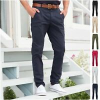 Mens Chinos Chino Jeans Pants Trousers Straight Leg Regular Fit Stretch Cotton