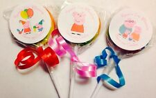 Peppa Pig Swirl/Twirl Lollipop Candy/Party Favor Customized 12 Count