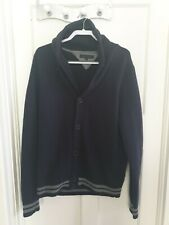 Mens Tommy Hilfiger Lambswool cardigan size XL navy and grey