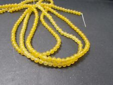 270pcs 4mm Yellow Agate Gemstone Round Beads (on 3 strands ) SPECIALS