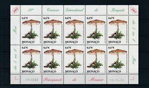 [G28150] Monaco 2003 mushrooms good sheet very fine MNH