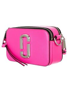 Marc Jacobs  Pink Snapshot Small Women's Camera Bag Hot Pink 100%  NWT