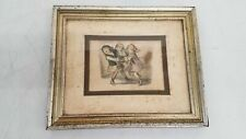 Vintage Don Freeman Mixed Media Pencil & Ink 3 Girls Playing Framed 12x10