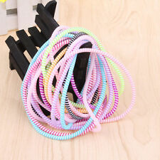10x Colorful Spiral Phone USB Data Charging Cable Cord Wrap Protector Winder