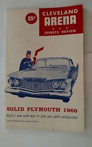 Vintage AHL Hockey 1960 Program CLEVELAND BARONS Vs ROCHESTER AMERICANS Rare