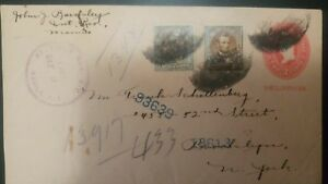 O) 1907 PHILIPPINES, US OCCUPATION, POSTAL STATIONERY 2c. RED, LINCOLN, REGISTER