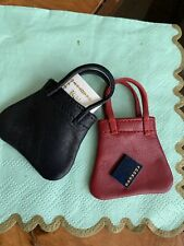 Leather adorable doll totes Bible and Address book for Bleuette or Petite dolls