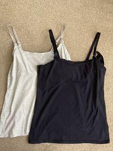 H&M feeding nursing Maternity Vests Size M Hardly Worn