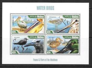 MALDIVE ISLANDS 2013 WATER BIRDS M/S MNH