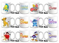 "Various ""DISNEY CHARACTER'S ""  Printed Boxed White Mug ~ Can Be Personalised"
