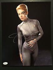 Jeri Ryan Seven of Nine Signed Autogragh JSA COA 11 x 14 photo Star Trek Voyager