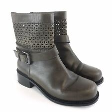And & other Stories Size 38 UK5 Brown Leather Ankle Buckle Cowboy Festival Boots