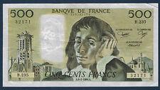 FRANCE - 500 FRANCS PASCAL Fayette n° 71.34 du 6-2-1986.A en TTB B.235 32171