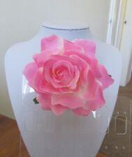 Rose Flower Hair Clip - Brooch Pink