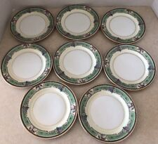 "Vintage Thomas China Bavaria Emerald 8 plates 6"" Bread & Butter - FREE Shipping"