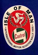 ISLE OF MAN MOTOR SCOOTER RALLY 1958 Vinyl Decal Sticker VESPA LAMBRETTA CASTROL