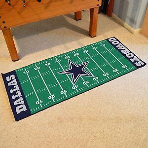 "Dallas Cowboys NFL Football Field Runner Man Cave Area Rug Mat 29.5""x72"""