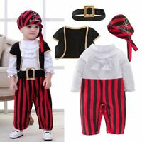 Baby Boy Girl Halloween Pirate Captain Costume Outfit Cloth Cosplay Party Dress