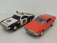 "TAIYO Japan Lot (2) Oldsmobile Toronado Bump N Go Tin Litho 10"" Battery Op"