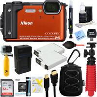 Nikon COOLPIX W300 Waterproof Digital Camera (Orange) +32GB Memory & More Bundle