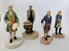 Sebastian Miniatures 4 U.S. Presidents Washington, Lincoln, Jefferson, Madison,