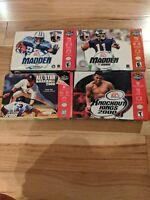 Nintendo 64 Sports Game Lot - n64 4 games Madden Mlb knockout kings cib working
