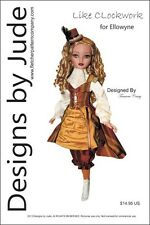 Like Clockwork Steampunk Doll Clothes Sewing Pattern for Ellowyne  Tonner