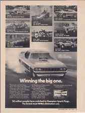 1971 CUDA FUNNY CAR DRAG RACING - WHIPPLE & McCULLOCH ~ ORIGINAL CHAMPION AD