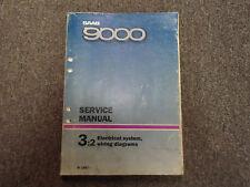 1987 Saab 9000 3:2 Electrical System Wiring Diagrams Service Repair Shop Manual