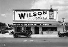 1937 Wilson Whiskey Billboard atop Hamburger joint A.C. Nj 8 x 10 Photograph