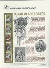 # 2505a INDIAN HEADDRESSES: CHEYENNE, COMANCHE... 1990 COMMEMORATIVE PANEL