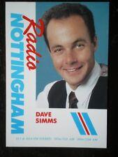 POSTCARD RADIO NOTTINGHAM - DAVE SIMMS
