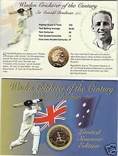 Don Bradman Folder With Gold Plated 20 Cent Coin Nice