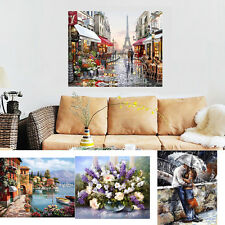 """UK Canvas DIY Digital Oil Painting Kit Paint by Numbers No Frame Decor 20x16"""""""