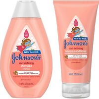Johnson's Curl-Defining Tear Free Kids Shampoo And Conditioner
