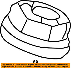 FORD OEM Front Suspension-Lower Ball Joint Retainer Nut F2TZ3A049A
