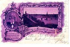 Gruss aus Frankfurt AK 1899 Mehrbild Litho Dichter Mainbrücke Hessen 1501115