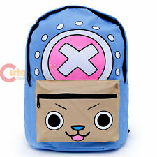 One Piece Backpack Chopper Anime Bag Cotton Canvas Large Laptop Book Bag