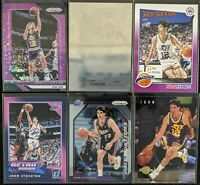 Lot of (6) John Stockton, Including Prizm /75, NBA Hoops purple & other inserts