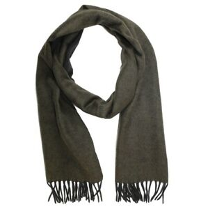 TOM FORD CASHMERE SCARF SOLID REVERSIBLE FOREST GREEN-BLACK