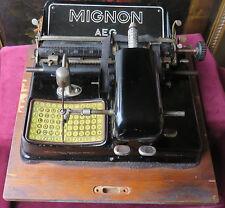 160105 Antica macchina da scrivere Mignon mod. 4. Germania 1913-1923