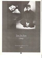 TEARS FOR FEARS Change UK magazine ADVERT/Poster/clipping 11x8 inches