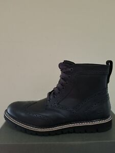 Timberland Men's Britton Hill Wingtip Waterproof Boots Black NIB