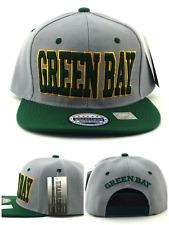 Green Bay New Headlines Leader Blockbust Packers Gray Green Era Snapback Hat Cap